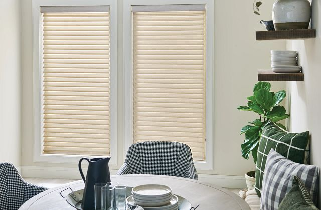 """2"""" Sheer Shades with Continuous-Loop Lift: Woven Grids, Twilight Chic 5330"""