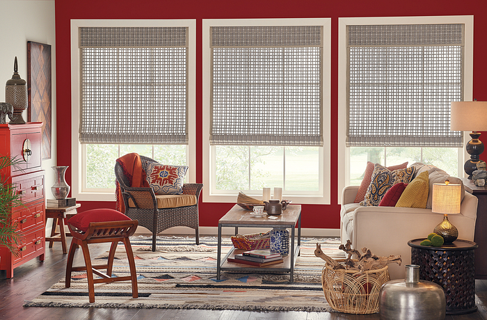 Standard Roman Natural Shades with Motorized Lift: Trinidad, Owl 00846