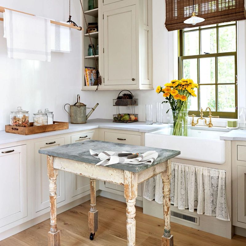 Kitchen in the idea house featuring natural shades