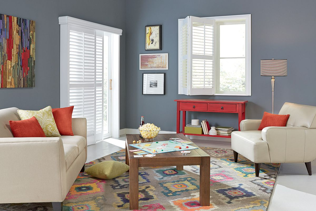 Shutters in a living room