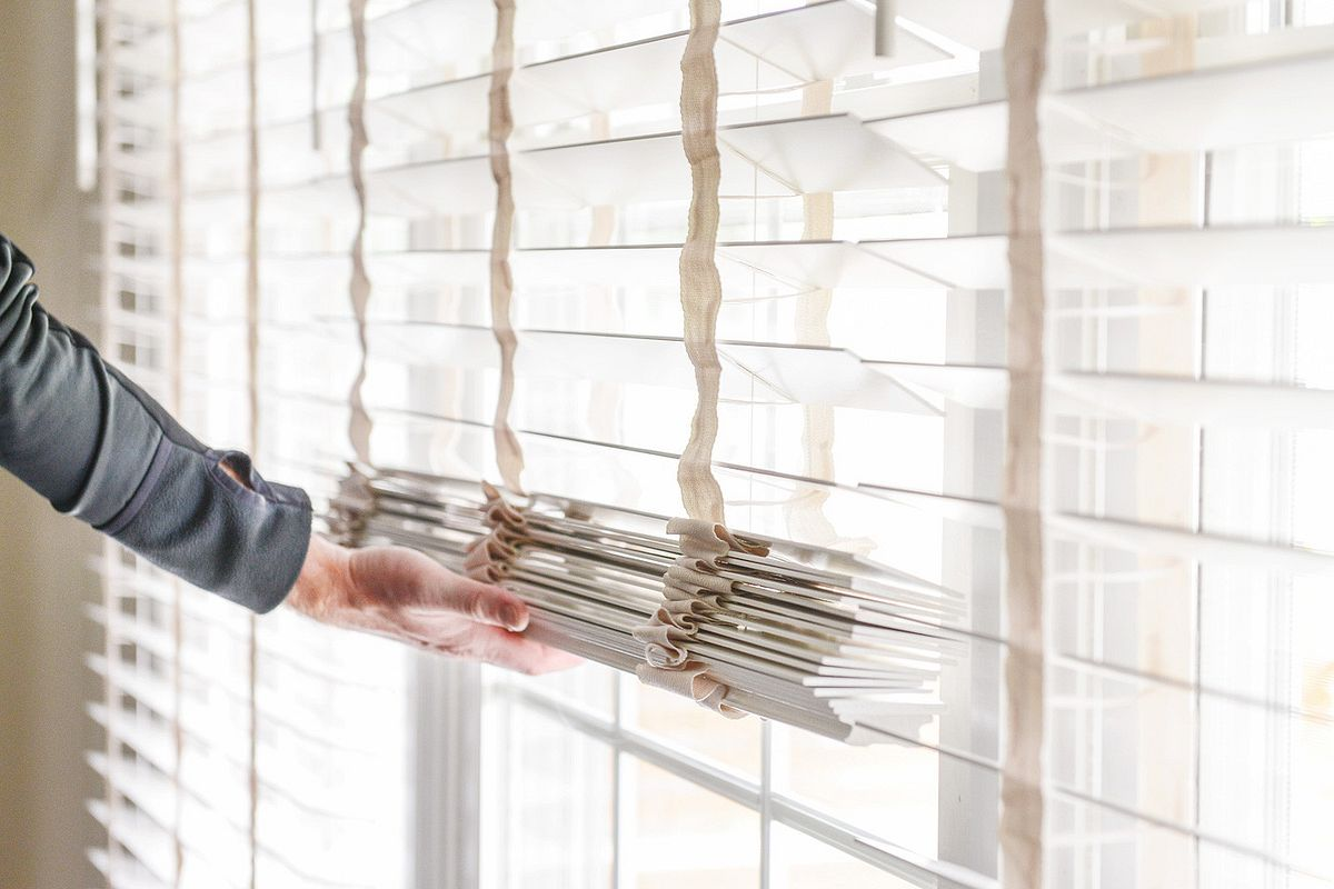 opening cordless wood blinds