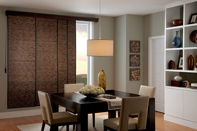 "Sliding Panels with Cord Control, 1"" Edge Banding in Jet 7000 and Privacy Liner in Espresso T0632 5 ½"" Regal Wood Cornice: Deep Cherry 1316"