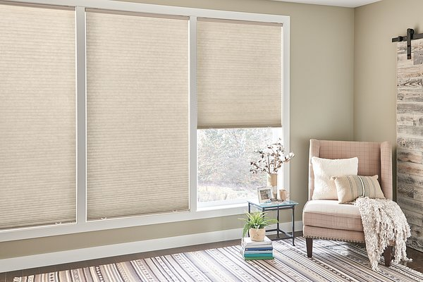"""3/8"""" Single Cell Cellular Shades with Cordless Lift: Sunrise, Desert Taupe 5810"""
