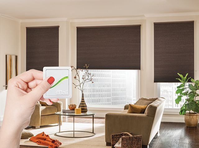 """¾"""" Single Cell Cellular Shades with AutoView Motorized Lift: Legacy, Hiking Trail 2715"""