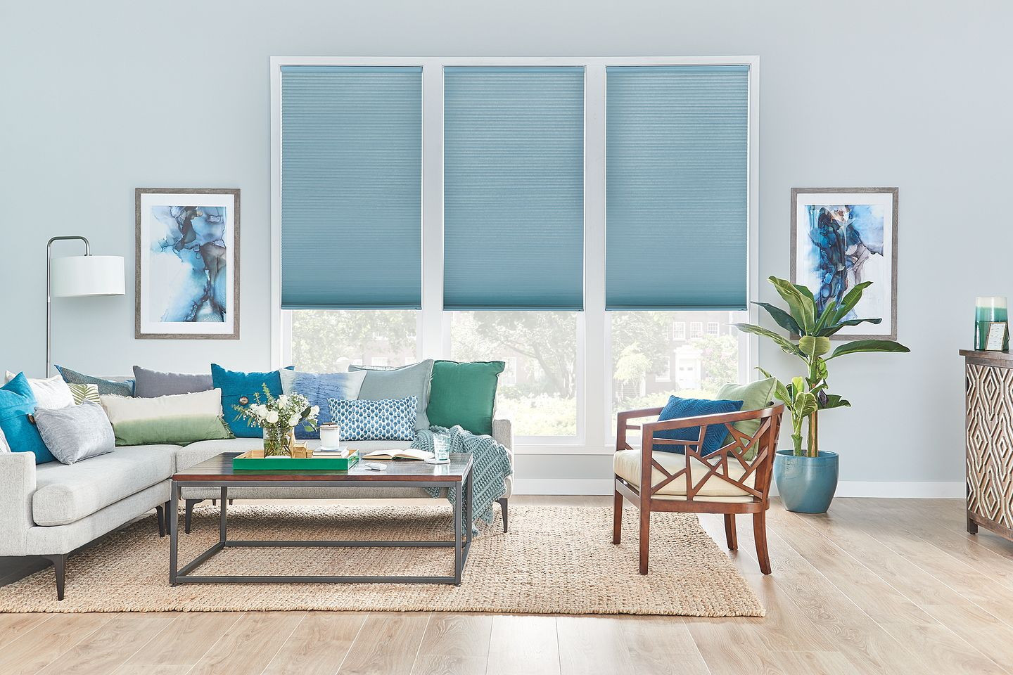 Bali Cellular Shades with Motorized Lift