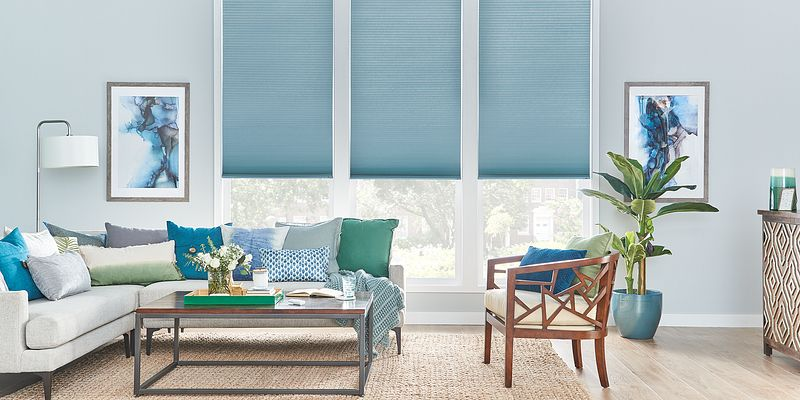 Bali Cellular Shades in a Window with motorization