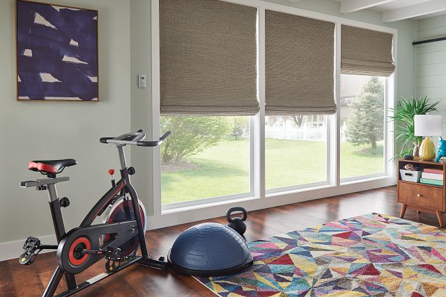 Bali Natural Shades in Old Style Roman with Motorized Lift