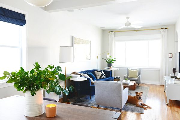 Living room with Bali Solar Shades