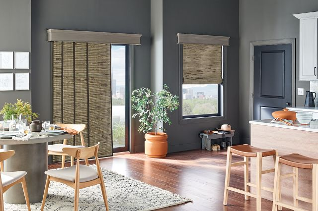 Kitchen featuring Bali Natural woven fabric Sliding Panels