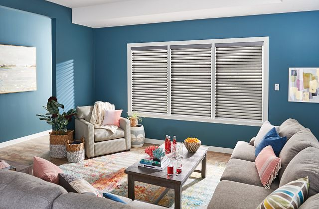 """2"""" Sheer Shades with Motorized Lift: Grand Illusion, Skyline 5271"""