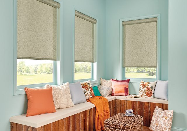 Solar Shades with Cordless Lift:Outline, Wolf 48903 with Cassette Valance