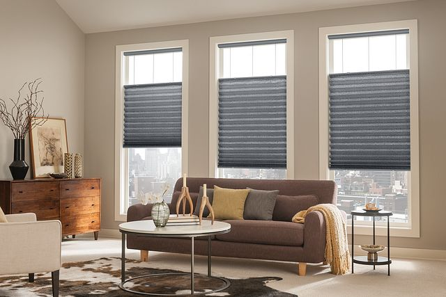 """2"""" Bottom Up/Top Down Pleated Shades with Cordless Lift: Motif, Liquid Silver"""