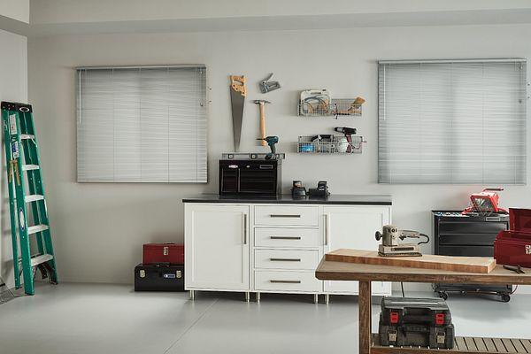 """1"""" LightBlocker™ Aluminum Blinds with Cordless Lift/Wand Tilt: Structured Aluminum 761"""