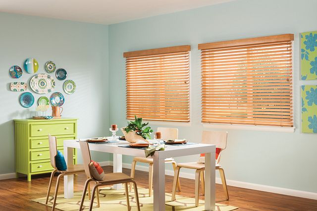 """2"""" Bali® Essentials Wood Blinds with Cord Lift/Cord Tilt with 3"""" Standard Valance: Wheatfields 1850"""