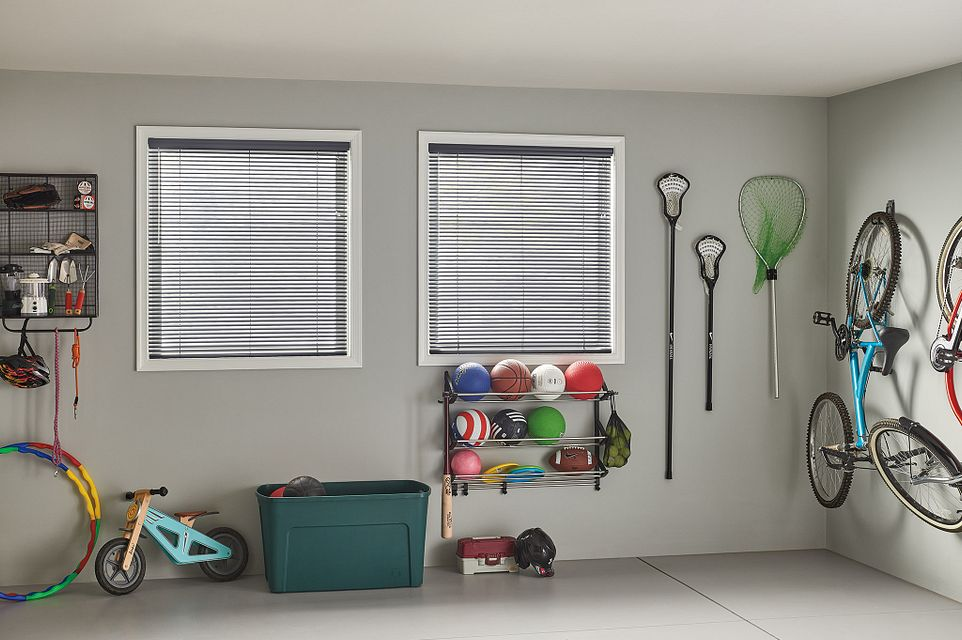 "1"" Customiser® Aluminum Blinds with Cord Lift/Wand Tilt: Modern Slate 749"