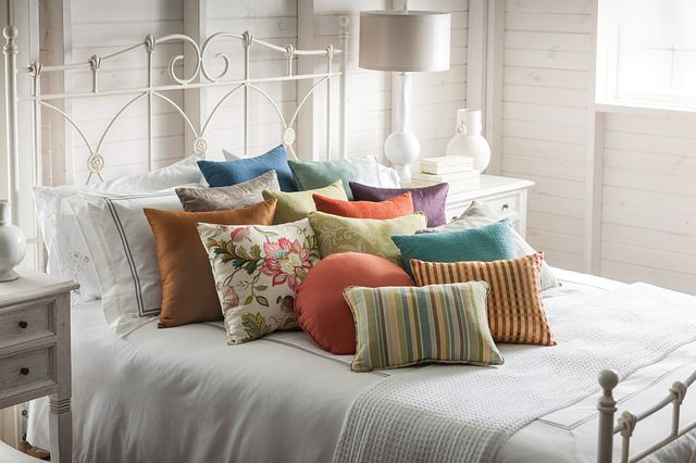 Add a touch of designer style to your décor with coordinating pillows. Pillows are available in multiple sizes and shapes.