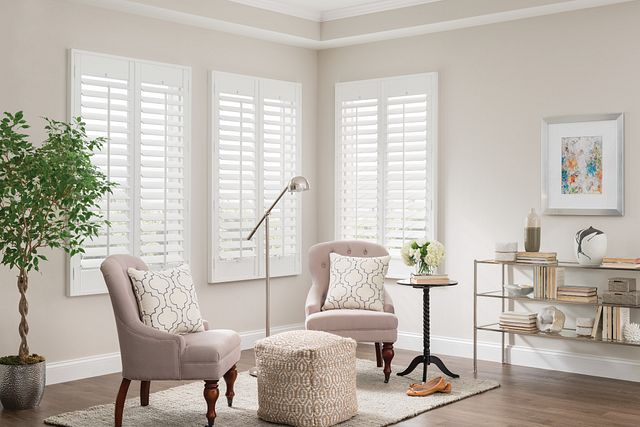 Wood French Door Shutters Meta Description: DIY Shutters Panel, Standard Tilt and L-Frame: Winter White 2922