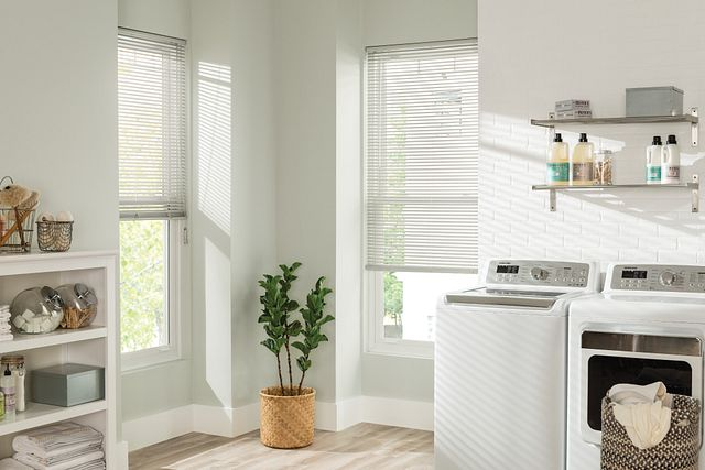 "1"" Value Premium Vinyl Horizontal Blinds: Light Gray 193"