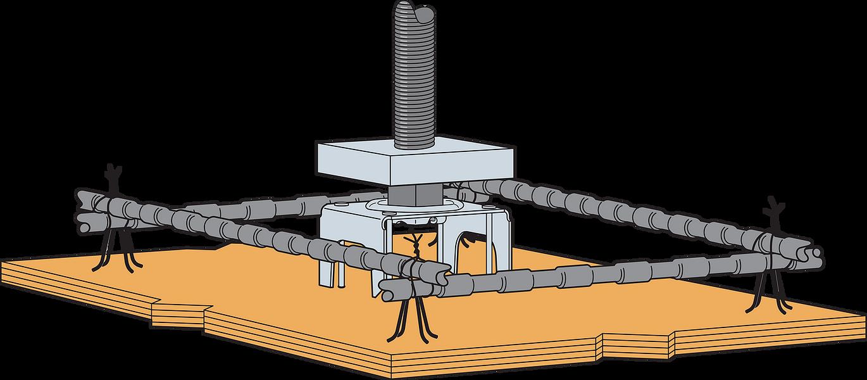 Shallow Podium Slab Anchor Kit