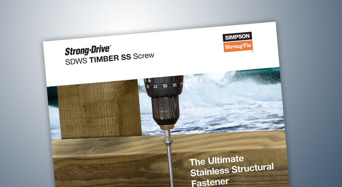 Strong-Drive(R) SDWS Timber SS Screw Flyer