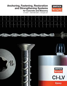 C-A-2021 – Anchoring, Fastening and Restoration Systems for Concrete and Masonry catalog