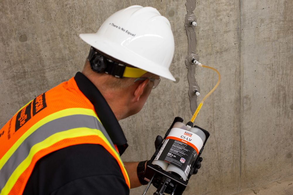 Crack Repair and Structural Epoxy Injection for Concrete