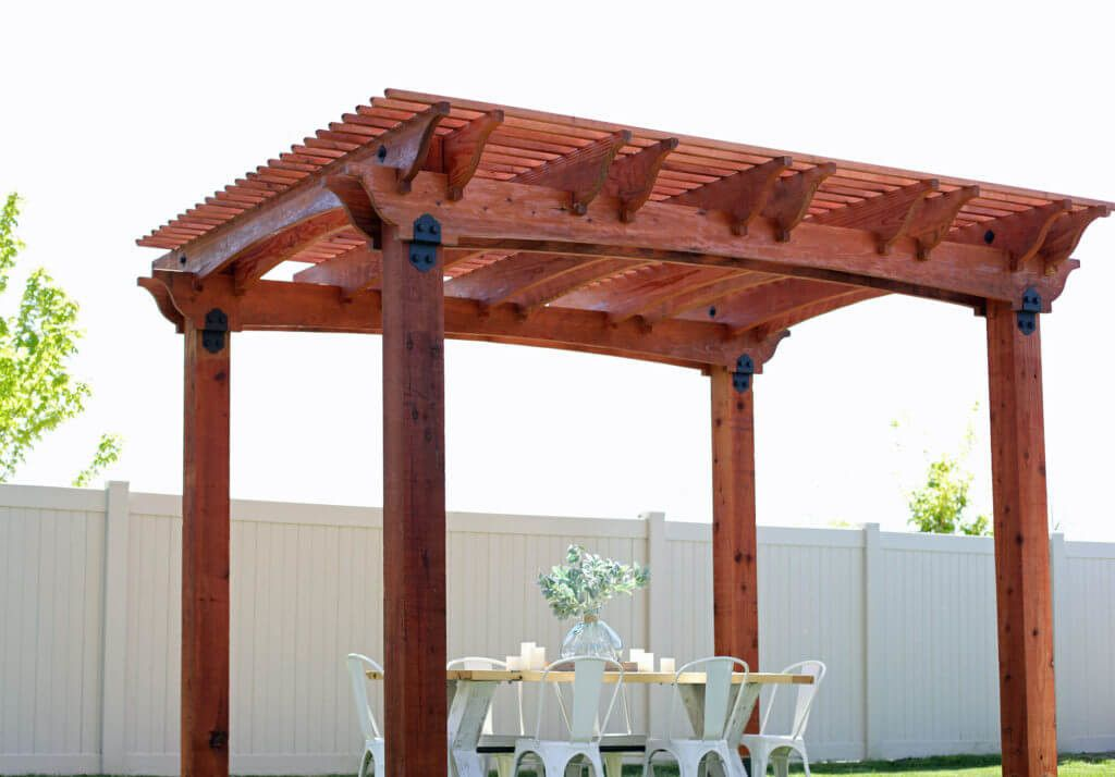 Redwood Pergola by Amy Baesler