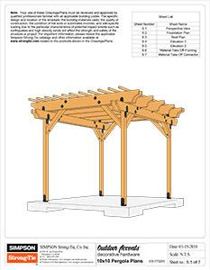 Agree to terms and download the Premier Pergola Plans