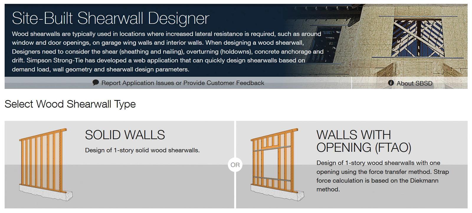 Site-Built Shearwall Designer