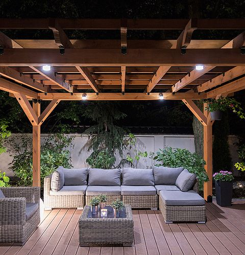outdoor accents night gazebo