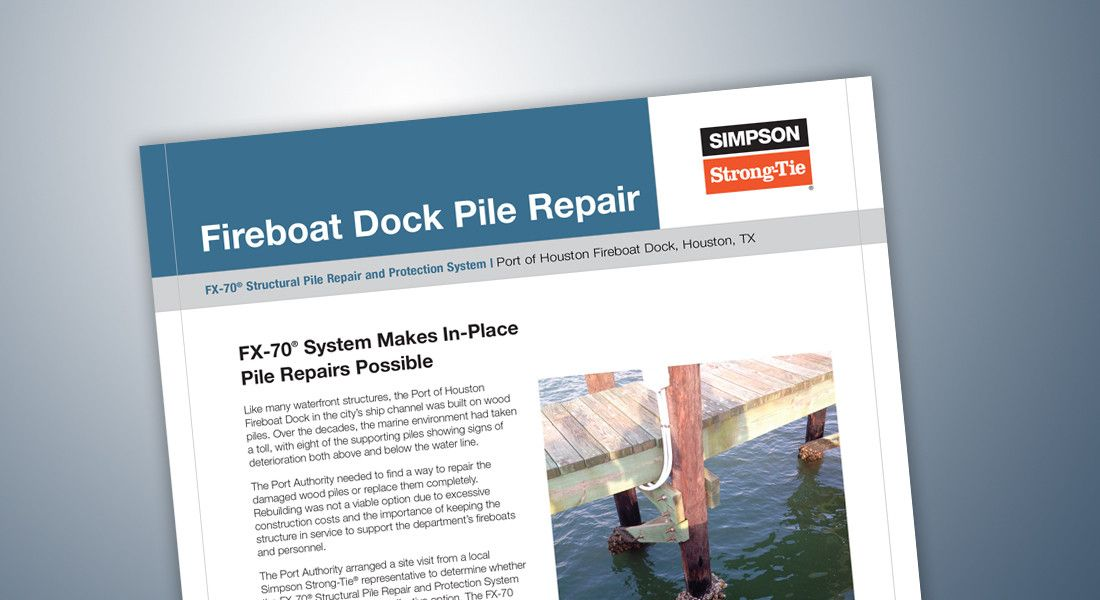 CS-R-PHFD16 — Case Study FX-70 Fireboat Dock Pile Repair