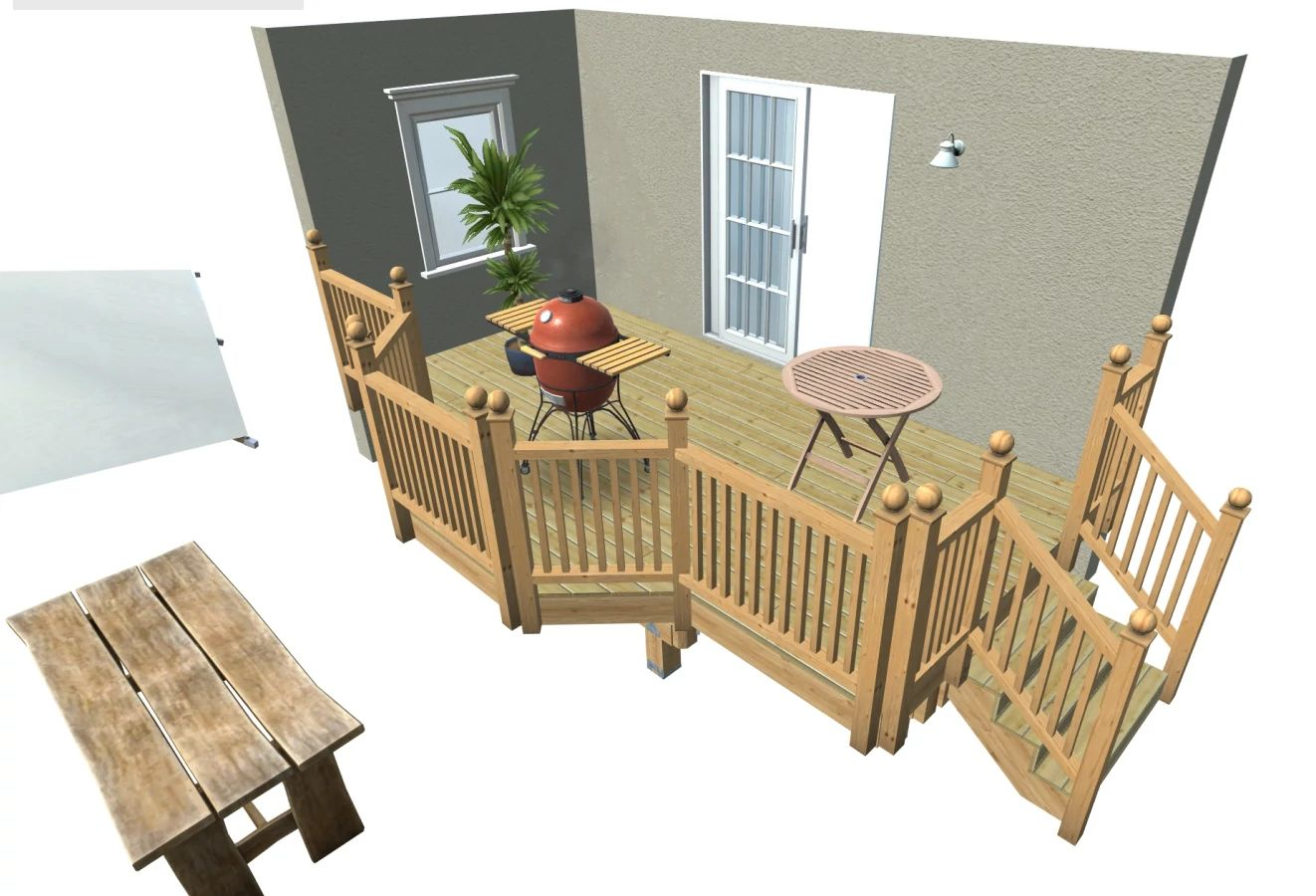 Amezcua Side Patio dream deck