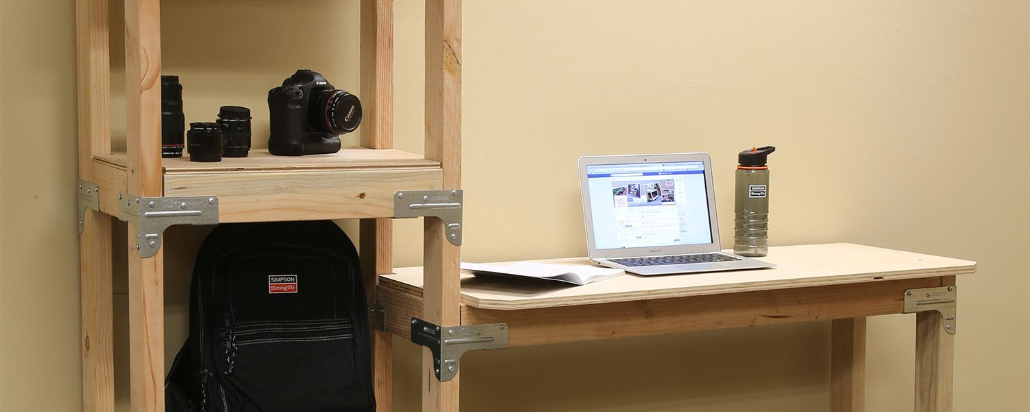 Standing Desk with Shelving Unit