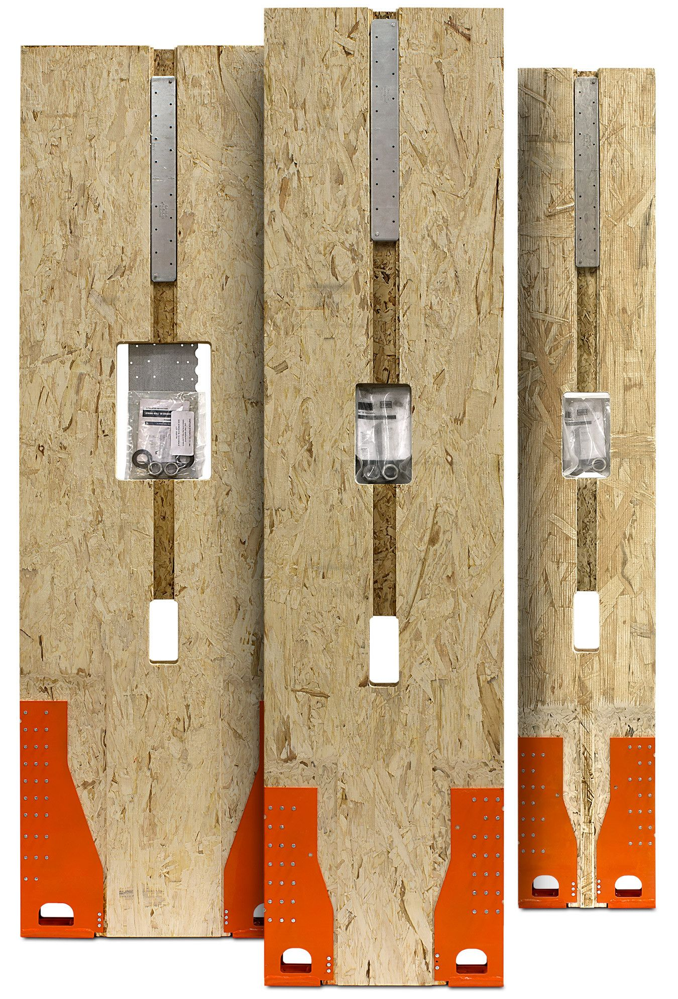 Wood Shearwalls Product Kit Back - WSW-back-3walls-kit
