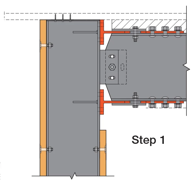 SMF T-Stub Link Installation: Step 1