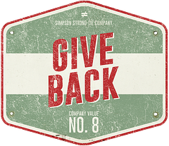 Simpson Strong-Tie Company Value No. 8 — Give Back