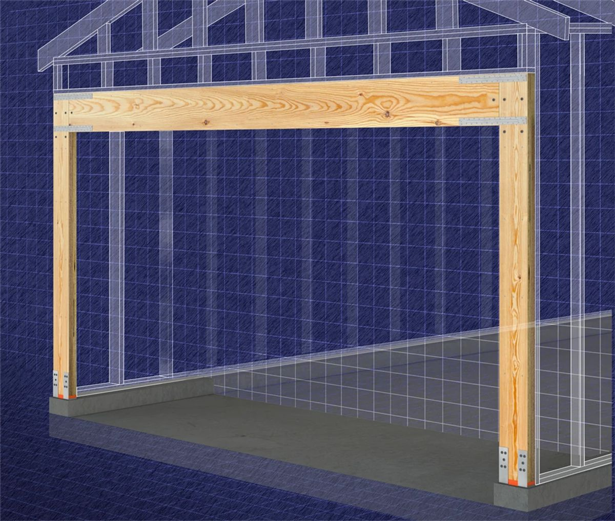 Double-Wall Portal Frame System Installation