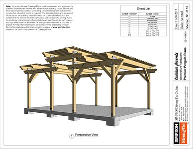 Agree to terms and download the Premier Pergola Plans - ES161178