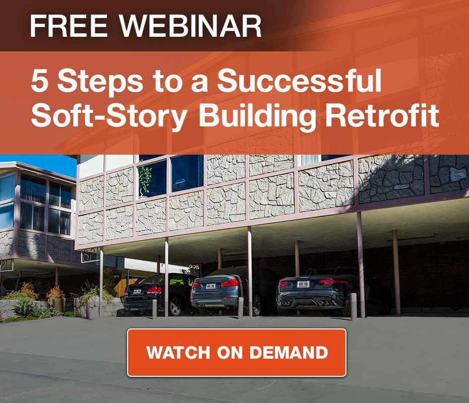 Free Webinar - 5 Steps to a Successful Soft-Story Building Retrofit - Watch On Demand