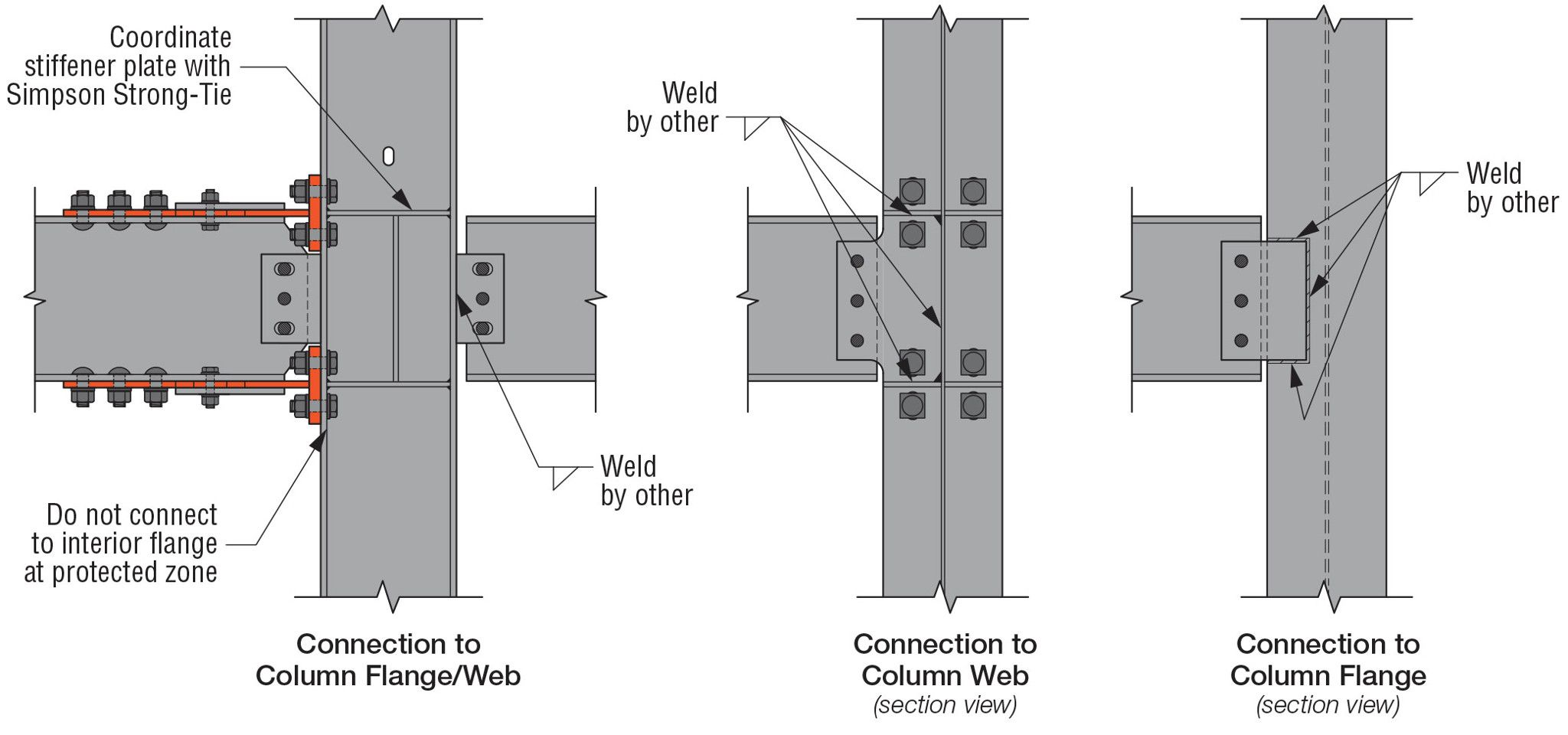 Connection to Column Flange/Web