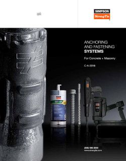 C-A-2016 – Anchoring and Fastening Systems for Concrete and Masonry catalog