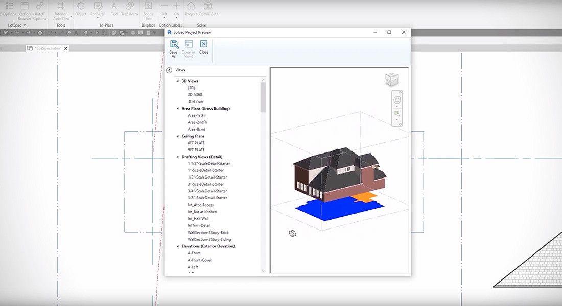 Lotspec Autodesk Revit