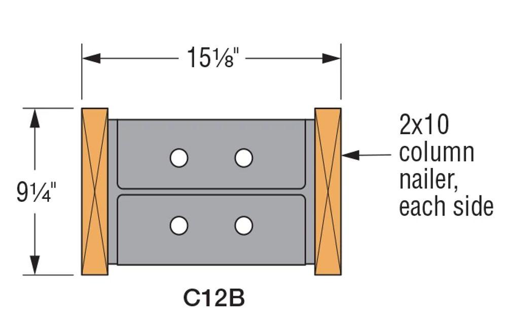 b) Column Geometry with Nailers