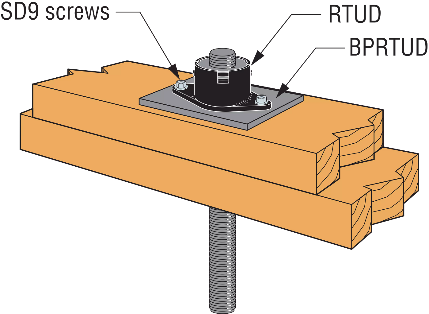 Typical Ratcheting Take-Up Device Assembly Installation