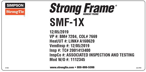 Special Moment Frame Label