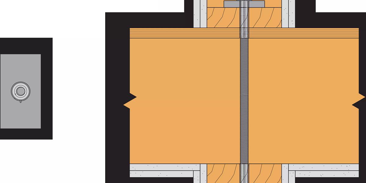 Take-Up Device Through Flooring