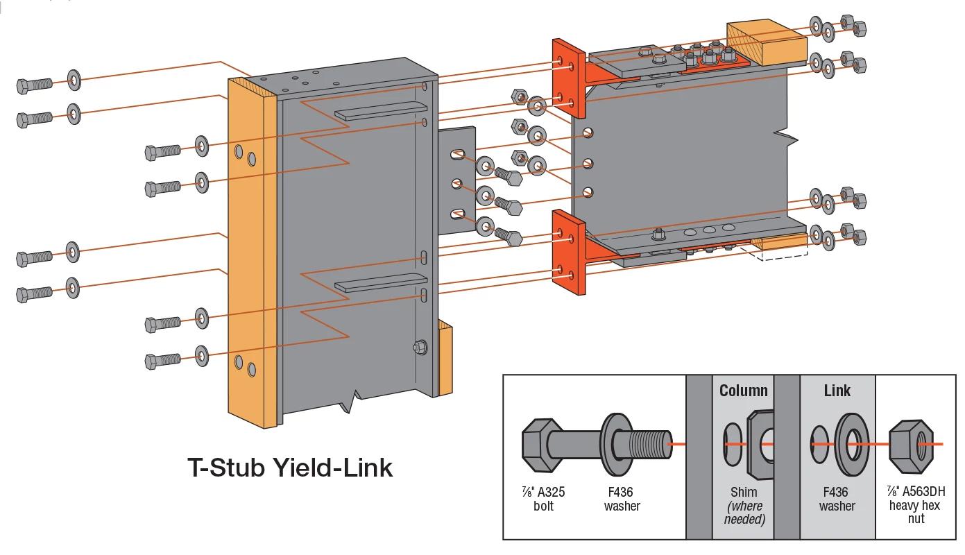 Special Moment Frame T-Stub Link Diagram
