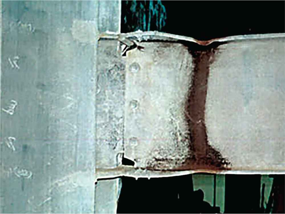 Formation of Plastic Hinge at RBS Connection