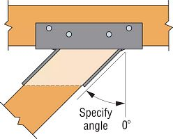 Typical W Top View Skewed Left Type A Hanger