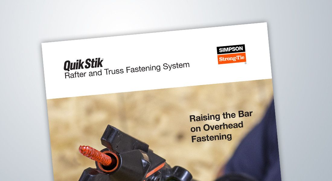 Quik Stik — Rafter and Truss Fastening System